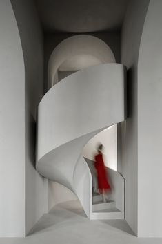 Image 3 of 30 from gallery of Rasario Boutique / Architectural Bureau WALL. Photograph by Ilya Ivanov Concrete Staircase, Staircase Handrail, Stairs, Staircases, Chief Architect, Minimal Architecture, Space Projects, Boutique Interior, Hotel Interiors
