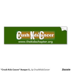 Buy a Bumper Sticker and support Crush Kids' Cancer: David Archuleta's Angels! Bumper stickers are only $5 and 25% of the proceeds is donated to Crush Kids Cancer, a Stand Up 2 Cancer team.