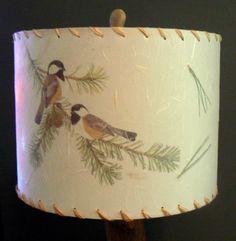 Chickadee image with real pine needles