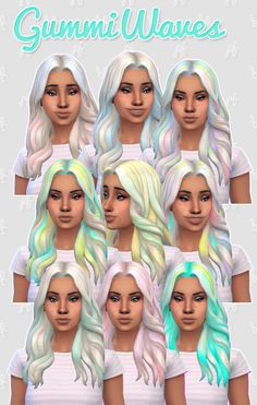 Gummi waves hair retexture at Pixel Jewel via Sims 4 Updates Check more at http://sims4updates.net/hairstyles/gummi-waves-hair-retexture-at-pixel-jewel/