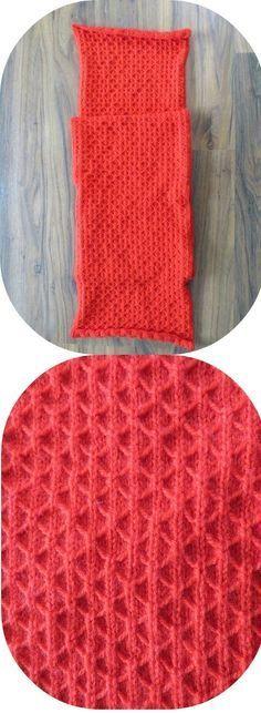 Sjaal breien in trellis steek. Gratis breipatroon sjaal.