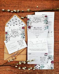 Fold-away invitations with a tear-off RSVP postcard ❤️ love them! Contact me now to chat about your own besoke wedding invitations - I'm very talkative you know 😉 Wedding Rsvp, Fall Wedding, Dream Wedding, Wedding Ideas, Handmade Wedding Invitations, Wedding Stationery, Late Summer Weddings, Wedding Calligraphy, Name Cards