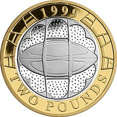 This coin commemorates the Rugby World cup held in the UK. Wales bowed out in the quarter-finals losing to the winners, Australia. Rare British Coins, Rare Coins, Mint Coins, Silver Coins, Millennium Stadium, English Coins, Valuable Coins, British Things, Gold Money