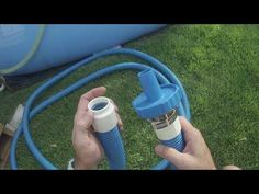 How I vacuum my Intex 18' Easy Set pool - YouTube