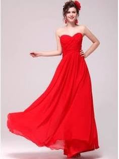 Red Evening Dress Formal Cheap Chiffon Wedding Gown Princess Beach Bridal Long Evening Spring For Guest Plus Size Elegant Floor Length Country