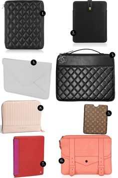 iPad cases for the (loaded) fashionista. Budget friendly cases are in a forthcoming post :)