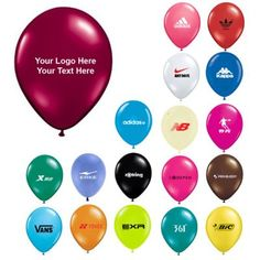 """11 Inch Custom Qualatex Round Latex Balloons: Available Colors: Jewel Teal, Quartz Blue, Sapphire Blue, Emerald Green, Ruby Red, Citrine Yellow, Mandarin Orange, Sparkling Burgundy, Diamond Clear, Jewel Magenta Pink, Rose, Ivory Silk, Onyx Black, Lime, Robin's Egg Blue, Wild Berry, Periwinkle Blue, Chocolate Brown. Product Size: 11"""". Imprint Area: 4.75"""" D. Carton Weight: 10 lbs. Packaging: 1000. Material: Latex. #customballoons #promotionalproduct #tradeshowgiveaway #latexballoon"""