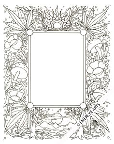 pretty flowers and pot leaves :] and crazy sun shapes :] Cynthia Emerlye, Vermont artist and kirigami papercutter: September 2012 Coloring Pages For Grown Ups, Free Adult Coloring Pages, Coloring Book Pages, Printable Coloring Pages, Coloring Sheets, Artwork Images, Leaf Coloring, Colorful Pictures, Decoration
