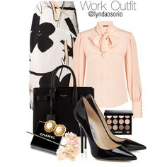 Work Outfit by lyndaosorio on Polyvore featuring polyvore, moda, style, Alexander McQueen, Marni, Yves Saint Laurent, Chanel, Bobbi Brown Cosmetics and Sia