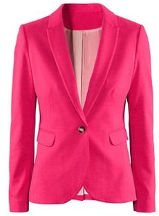 Glamour Slim Long Sleeve Candy Color Blazer