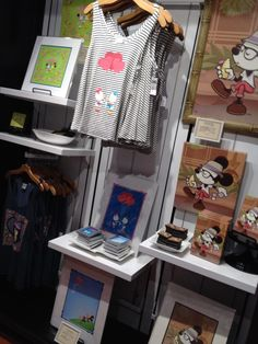 Merchandise display at the new WonderGround Gallery location (Orlando, FL)
