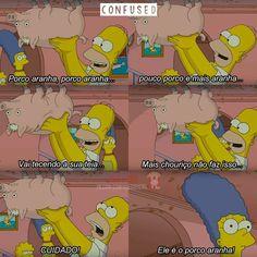 Mas agora ele não é mais o porco aranha, ele é o... Porco Harry kkk Simpsons Frases, The Simpsons Movie, Korean Drama Quotes, Himym, My Spirit Animal, Funny Photos, Pixar, Nostalgia, Nerd