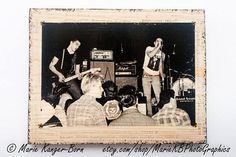 1980s Chicago Punk Rock Band The Effigies Photo Transfer To