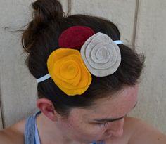 diy spiral felt flower headband for fall square