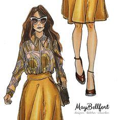 Fashion sketching / Модная иллюстрация от May Bellfort