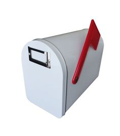Medium Tin Mailbox W/Flag