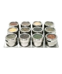 Stainless Steel Magnetic Canisters Spice Rack