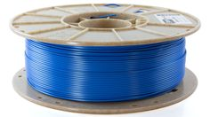 Starch-based 3D printing filament, Biome 3D, in Ocean Blue www.cleanstrands.com
