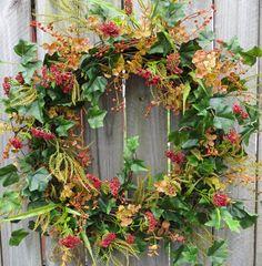 Everyday / Fall Wreath  Wreath great for Summer by HornsHandmade, $65.00