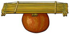 MORO Traditional string instrument. Nigeria,  África.