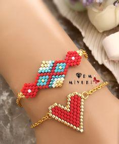 Kırmızı şıklığı ♥️🎈 Bilgi ve sipariş için Dm 👉🏻📱ulaşabilirsiniz 🛍 • • • • #miyuki #love #bileklik #takı #bracelet #jewelry #aksesuar…