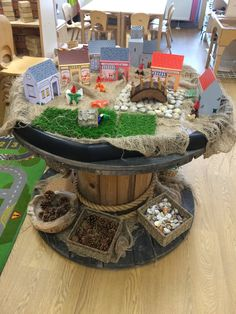 Mrs Hutchinson (@JennyPennys) | Twitter Cable Reel Ideas Eyfs, Cable Reel Ideas For Kids, Preschool Learning Activities, Preschool Crafts, Crafts For Kids, Eyfs Outdoor Area, Wooden Spool Crafts, Tuff Tray, Small World Play