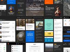 Great Simple UI Pack by Great Simple, via Behance
