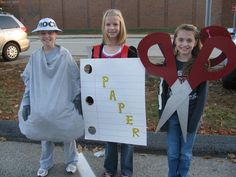 Rock, Paper, Scissors Costume: Perfect for triplets or twins + 1