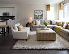 Tan Living Room Walls White Trim And Wood Floors Upper West Side