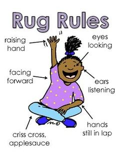 Free Rug Rules Poster this will help managing rug time with respect, manners, and guidelines.