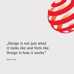 """335 """"Μου αρέσει!"""", 3 σχόλια - Red Dot Award: Product Design (@reddotaward_productdesign) στο Instagram: """"#design #quote #quotation #stevejobs #functionality #aesthetic #apple #reddot #designaward"""""""