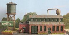Cotton Mill ~ Model Train Building Diorama