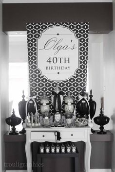 Little Big Company | The Blog: Black and White Themed 40th Birthday by Trouli Graphics