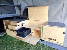 » CAMPER TRAILER KITCHENS » Drifta Camping Kitchens & Drawer Systems