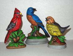 Ceramic Bird Figurines by BackNTimeVintage on Etsy, $14.00
