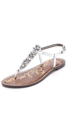 "These Sam Edelman ""Gwyneth"" sandals would be perfect to wear during the reception when my feet get tired, and I can bring them on my honeymoon to add a little sparkle to my sundresses!"
