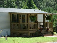 Simple Front Porch Designs in Manufactured Home Porch Design - Erins . Mobile Home Deck, Mobile Home Exteriors, Mobile Home Renovations, Mobile Home Makeovers, Mobile Home Repair, Mobile Home Living, Remodeling Mobile Homes, Front Porch Design, Porch Designs