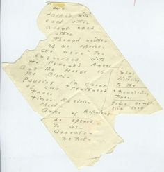 We | talked with | each other, ca. 1879. Emily Dickinson envelope poem.