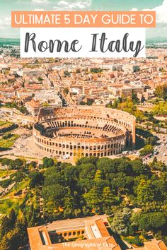 Planning a trip to Rome? Rome is a beautiful tangle of ancient Roman landmarks, Renaissance art, and the famous Vatican Museums. This Rome travel guide gives you a 5 day itinerary for Rome, taking you to all of Rome's must see sites and destinations, must see archaeological sites and historic landmarks, Rome's world class museums, and some hidden gems in Rome as well. Rome Itineraries | What To Do In Rome | Best Things To Do In Rome | Italy itineraries | Museums in Rome | #rome | #italy Literary Travel, Travel Books, Rome Travel, Italy Travel, Best Cities In Europe, Day Trips From Rome, Europe On A Budget, Countries To Visit, Visit Italy