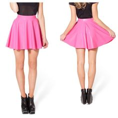Blackmilk pvc pink skater skirt shiny black milk Authentic blackmilk black milk clothing pvc pink skater skirt, SIZE XL. Great condition only stored in closet, has creases and folds. Museum piece  NO HOLDS - make an offer Blackmilk Skirts