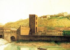 View of Ancient Florence by Fabio Borbottoni 1820-1902 (17) - Porta San Niccolò…