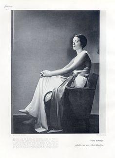 Madeleine Vionnet (Couture) 1932 Evening Gown, Boris Lipnitzki
