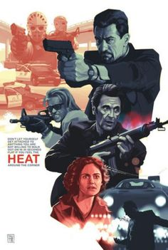 Heat - Alternative Movie Poster Michael Mann Robert DeNiro Val Kilmer Al Pacino Best Movie Posters, Cinema Posters, Movie Poster Art, Action Movie Poster, Heat Movie, I Movie, Captain America Bucky, Don Corleone, Bon Film