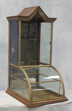 Buy online, view images and see past prices for Oak and nickel framed candy store tower form display cabinet, makers tag from FH Starling, Philadelphia, 40 Country Store Display, Candy Store Display, Store Displays, Country Stores, Showcase Store, Cream Cabinets, Vintage Display, Store Fixtures, Antique Stores