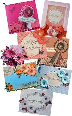 $Fleurs de Papier ~クラフトパンチや花紙で作る立体のお花いろいろ~-hokkeのペーパークラフト