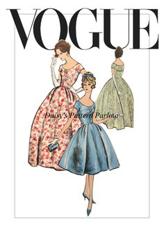 £18.99 Vogue 9618 Dress. High quality digitally remastered vintage sewing patterns for sale at Daisy's Pattern Parlour. Order a Vogue Smart Dressmaking book at a reduced price with this pattern and receive a FREE Vogue blouse waistcoat pattern.