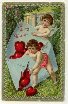 vintage valentine-cherubs
