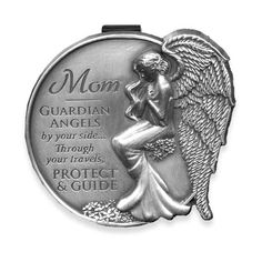 Angel of The Highway Protect Us Guardian Angel Sun Visor Clip EN FR