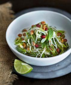salada de papaya verde