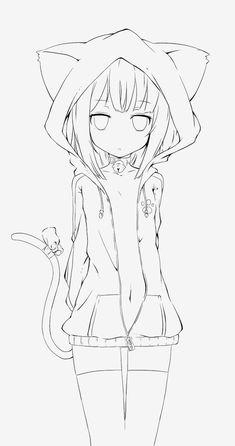 save Girly Drawings, Cute Kawaii Drawings, Art Drawings Sketches Simple, Anime Lineart, Anime Chibi, Anime Character Drawing, Manga Drawing, Drawing Faces, Drawing Tips
